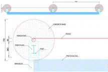 Solar fence constr 1