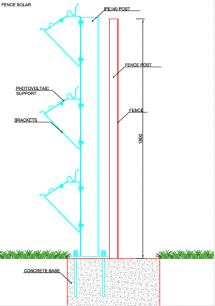 Solar fence constr 3