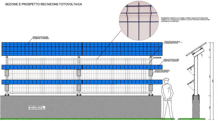 Solar fence constr 4